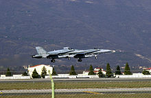 Airplane Picture - Canadian CF-18 Hornets depart Aviano Air Base, Italy, after contributing 2600 combat flying hours in support of NATO Operation ALLIED FORCE