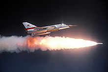 Airplane picture: F-106A Delta Dart from California ANG fires the AIR-2 Genie missile.