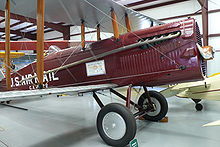 Airplane Picture - United States Postal Service DH.4 from 1919 at the Historic Aircraft Restoration Museum.