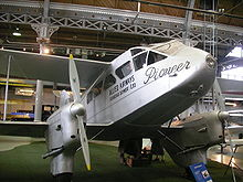 Airplane Picture - G-ADAH, built in 1935 and used by Hillmans Airways and Allied Airways until 1947. On display at the Museum of Science and Industry, Manchester, UK.