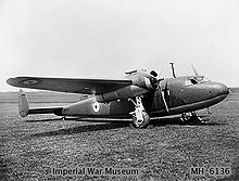 Airplane Picture - DH 95 in RAF service
