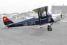 Airplane Picture - Swiss registered DH 60G III Moth Major