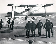 Airplane Picture - Sqn Cdr E. H. Dunning landing on HMS Furious in a Sopwith Pup