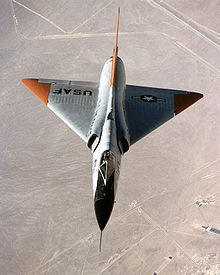 Airplane Picture: A QF-106 Delta Dart shows its area ruled fuselage