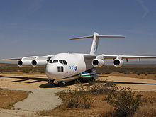 Airplane Picture - The first YC-15 on display at Edwards