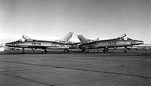 Airplane Picture - F-100As different tail fins, 1955.