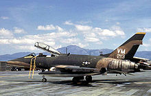 Airplane Picture - A USAF F-100F of the 352d TFS at Phu Cat Air Base, South Vietnam, 1971.