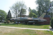 Airplane Picture - F-105G on display at American Legion Post, Blissfield, MI