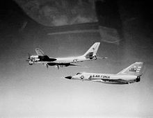 Airplane picture: A Soviet Tu-95 intercepted by a 102nd FIW F-106A in 1982