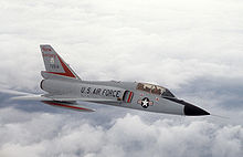 Airplane picture: A two-seat F-106B trainer variant of the New Jersey ANG.