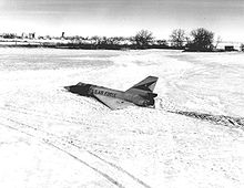 Airplane picture: F-106 no. 58-0787 on the ground after the pilot ejected.