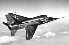 Airplane Picture - An F-107A in flight