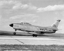 Airplane Picture - A Wyoming Air National Guard F-86L in the late 1950s.