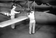 Airplane Picture - Ground preparation prior to air launch, 1944