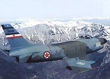 Airplane Picture - A SFR Yugoslav Air Force F-86D in flight during the 1970s.