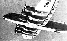 Airplane Picture - Junkers Ju 390 V1 in flight.