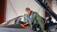 Airplane Picture - Lt. Col. Sean Penney exits his CF-18 in 2009
