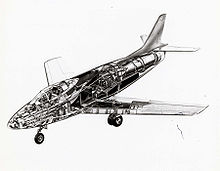 Airplane Picture - Cut-away illustration of the YF-93A.