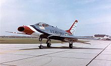 Airplane Picture - F-100D in USAF Thunderbirds livery. Video