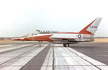 Airplane Picture - A side-view photograph of the F-107A