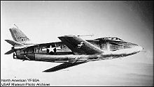 Airplane Picture - The first YF-93 in flight