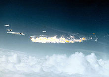 Airplane Picture - The formation of aircraft shortly after the collision on 8 June 1966