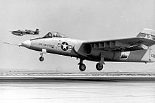 Airplane Picture - Northrop's YA-9; note the offset forward landing gear