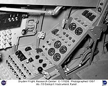 Airplane Picture - Cockpit of the HL-10 lifting body.