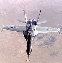 Airplane Picture - Frontal view of Northrop YF-17