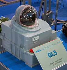 Airplane Picture - OLS optical detection pod used on Su aircraft.