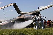Airplane Picture - A crashed Philippine OV-10A at Clark Air Base in 2006.