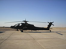 Airplane Picture - AH-64A at Forward Operating Base Speicher, Iraq in 2005