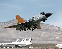 Airplane picture: The QF-106 Delta Dart target drone.