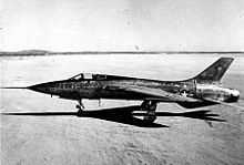 Airplane Picture - Republic YF-105A (AF Ser. No. 54-0098, the first of two prototypes)