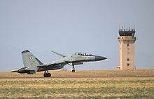 Airplane Picture - IAF Su-30MKI jet touches down at Mountain Home Air Force Base during Red Flag exercise.