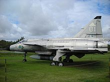Airplane Picture - A Viggen at the Swedish air force museum.