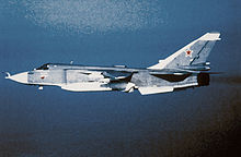 Airplane Picture - A Su-24 in flight.