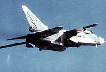 Airplane Picture - Soviet Su-24 in flight