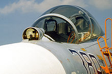 Airplane Picture - Su-27UB cockpit showing IRST system