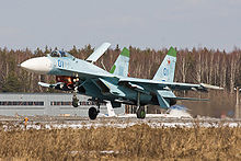 Airplane Picture - Su-27 landing at Kubinka, Russia