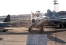 Airplane Picture - Sukhoi Su-28 in display.