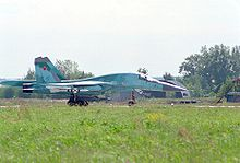 Airplane Picture - Su-34 landing