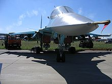 Airplane Picture - Frontal view of the Su-34