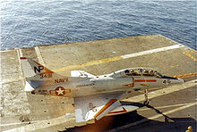 Airplane Picture - TA-4F Skyhawk of VA-164 aboard the aircraft carrier USS Hancock in the early 1970s