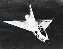 Airplane Picture - Convair XF-92A in flight with bare metal scheme