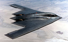 Airplane Picture - Side view of a B-2 Spirit