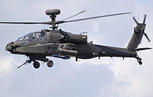 Airplane Picture - UK Army Air Corps Westland WAH-64D Apache Longbow displays at a UK airshow