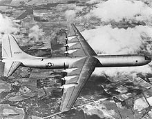 Airplane Picture - The XB-36 on its first flight.