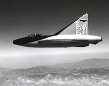 Airplane Picture - Convair XF-92A painted as a fictional MiG-23 for the movie Jet Pilot