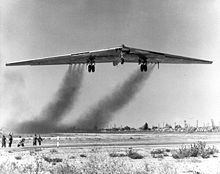 Airplane Picture - YB-49 takes to the air for the first time.